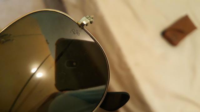 Óculos Ray-Ban aviator feminino original, com estojo. - Foto 3