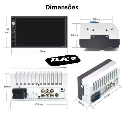Central Multimídia Display Digital Bluetooth, Usb, Fm - Foto 4