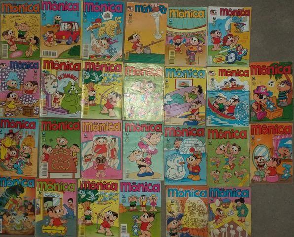 Lote de 83 gibis da Mônica da Editora Globo