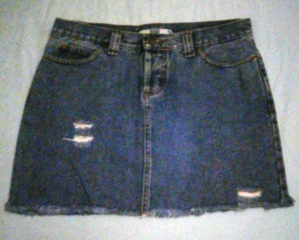 Oferta mini saia jeans destróier