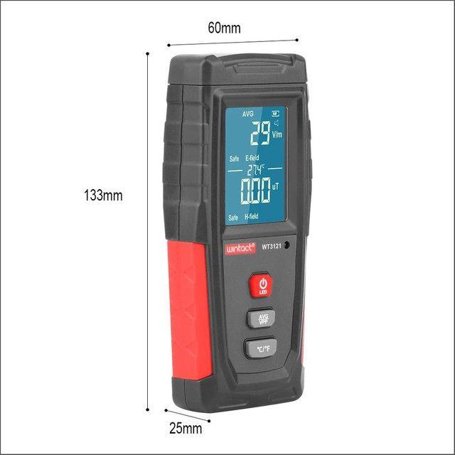 Detector de Radiação Portátil e Recarregável, Medidor do Campo Eletromagnético Emf - Foto 5