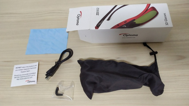 Óculos 3d Para Projetor Optoma Zd302 - Dlp Link Original !!! - Foto 5