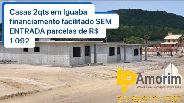 Casas 2qt em Iguaba Grande só R$ 1.092 mensais Sem entrada super facilitado sem burocracia - Foto 2