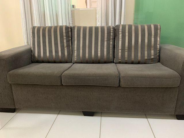Conjunto de sofá de 2 e 3 lugares. Semi Novos R$ 700,00 - Foto 2