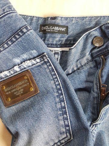Calça jeans dolce&gabbana placa da marca - Foto 3