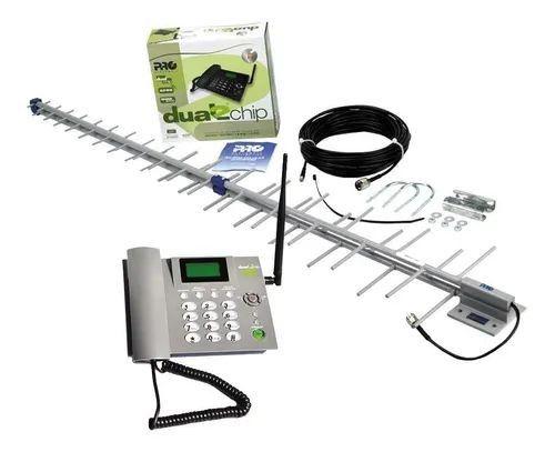 Kit Celular Rural + Antena + Cabo Prokd-6000 Proeletronic