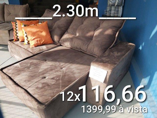 Sofás novos, retrátil e reclinável, boleto ou cartão, consulte condições  - Foto 5