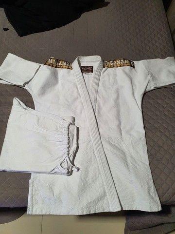 Kimono Judô/Jiujitsu HAGANAH A1 Branco - Foto 2