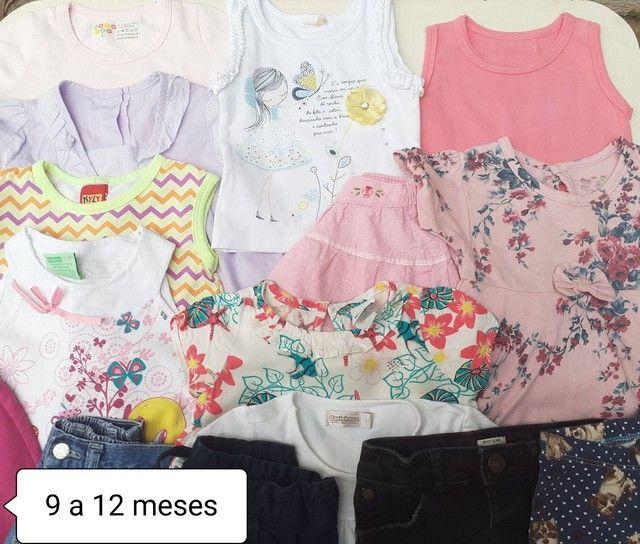 Lote menina bebê 9 a 12 meses