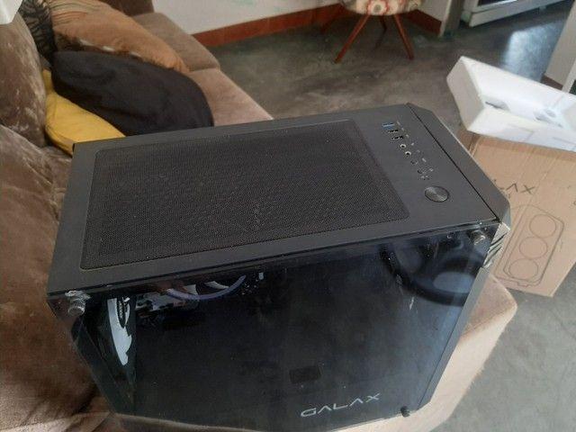 Cpu Gamer Placa Mae A320M Ryzen 5 2600 8Gb de Ram Rgb Fonte 500wtts - Foto 2