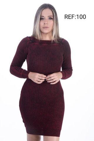 Atacado Vestido de Lã Premium