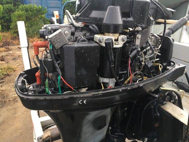 Barco com motor 40HP  - Foto 6