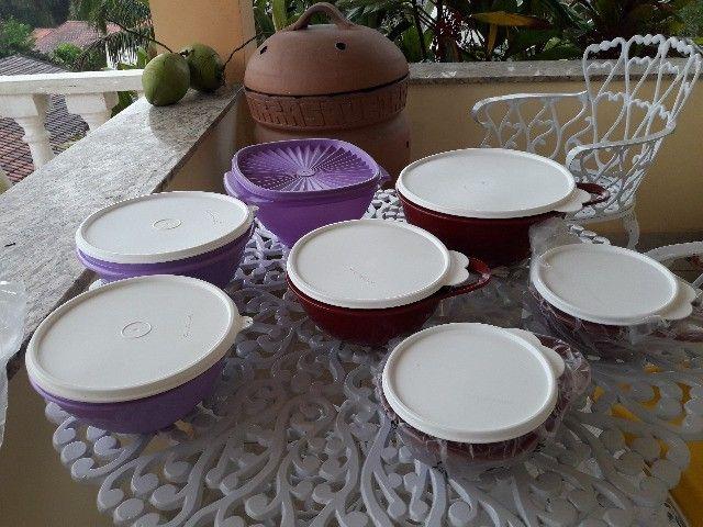 Conjunto de potes tupperware