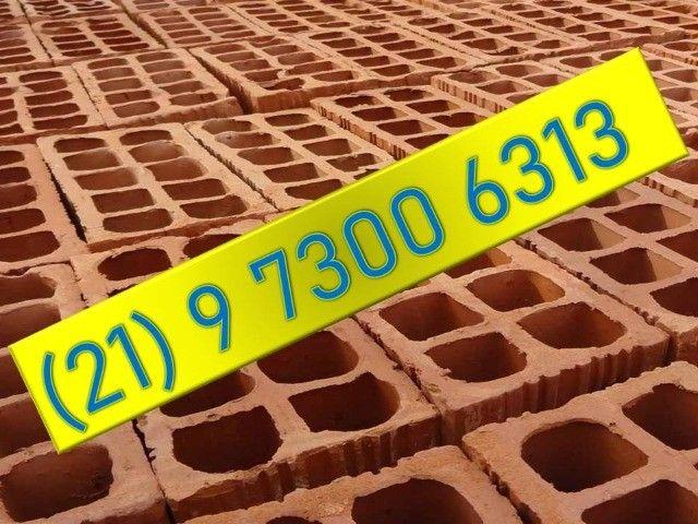 Tijolos lajotas da cerâmica - 10 furos