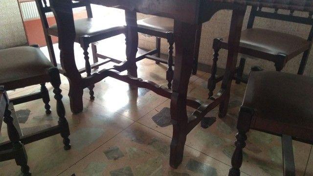 Mesa antiga em madeira nobre - somente a mesa - Foto 5