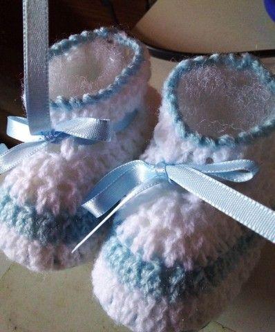 Sapatinhos em crochê  - Foto 4