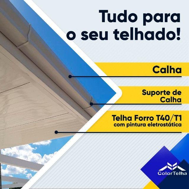 Telhas e acabamentos para telhado, valores atuais por metro na descrição do post.
