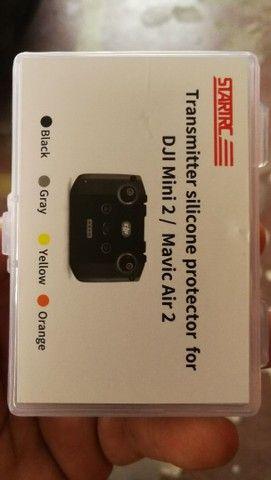 Capa silicone controle do drone mini 2.  - Foto 2