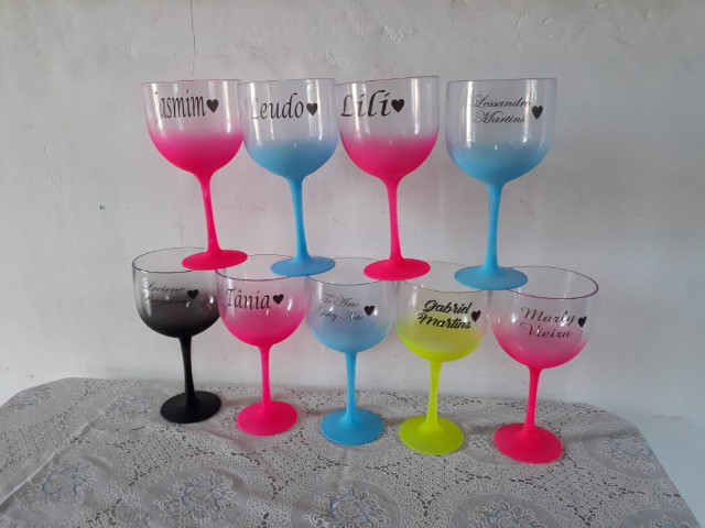 10 Taças Gin Degradê Personalizada com Nome - Foto 6