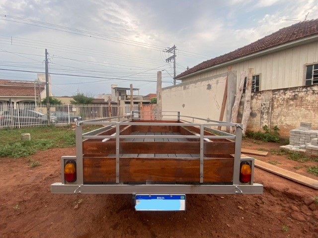 Carreta Reboque 3,00x1,50 - Nova e Documentada e Emplacada 09/2021 - Foto 4