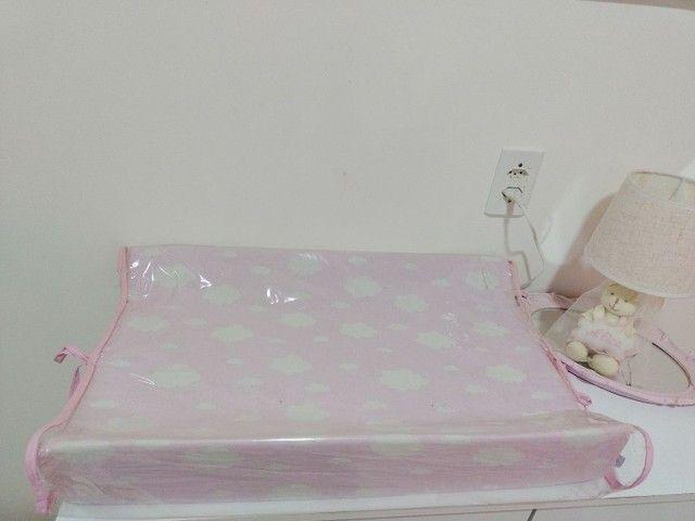 Trocador Americano de cômoda C/ Protetor Nuvem Rosa