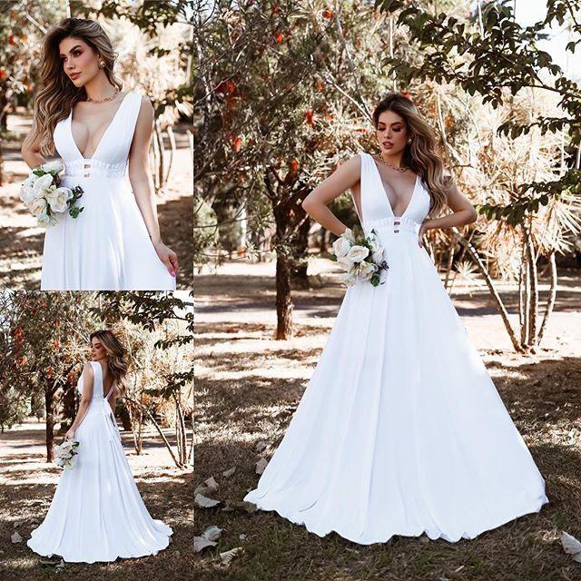 Vestido Noiva casamento civil cartorio midi e longo novos - Foto 4