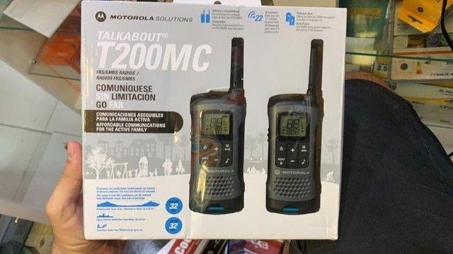Rádio Comunicador Motorola T-200MC 20 Milhas / 32 km Bivolt - Preto / Cinza - Foto 3