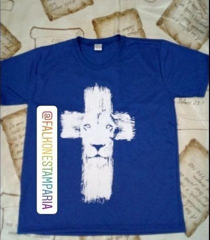 camisas evangélicas camisetas evangélicas camisas evangélicas personalizadas - Foto 3