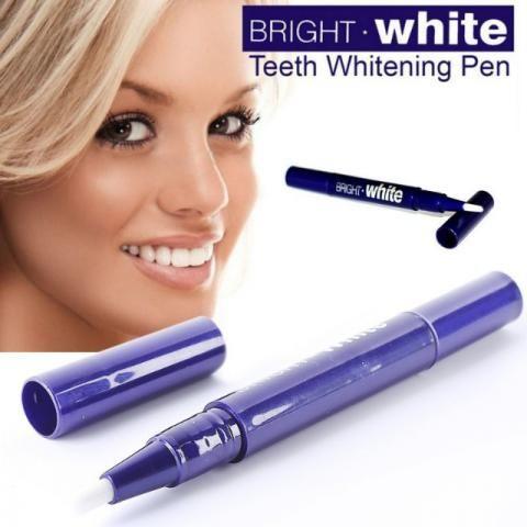Caneta e fita clareadora dental 3d White