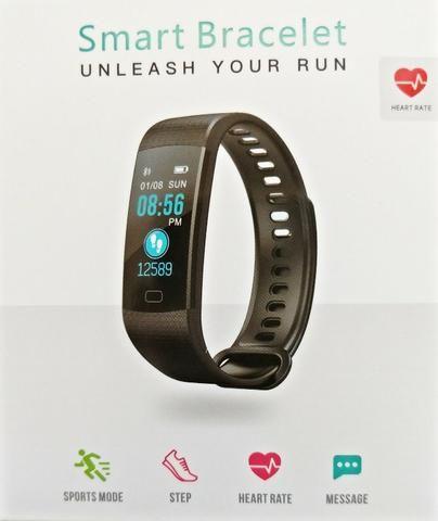 be970918acbcb Relógio Smart Monitor Cardíaco Oxigênio Calorias Passômetro esporte