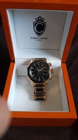 Relógio Constantim ouro rosé