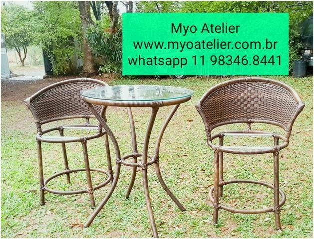 Mesas e Cadeiras em ferro e aluminio