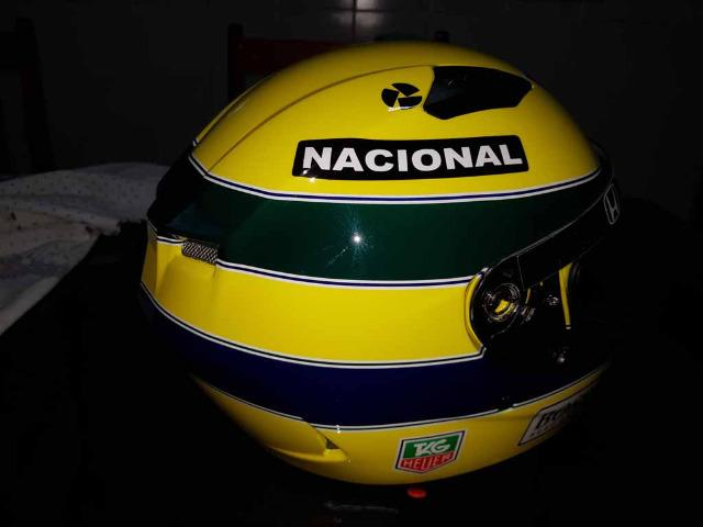 Capacete Personalizado Ayrton Senna - Novo - Sem uso - Na Caixa - Foto 15