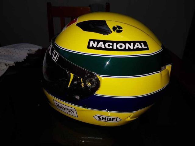 Capacete Personalizado Ayrton Senna - Novo - Sem uso - Na Caixa - Foto 8