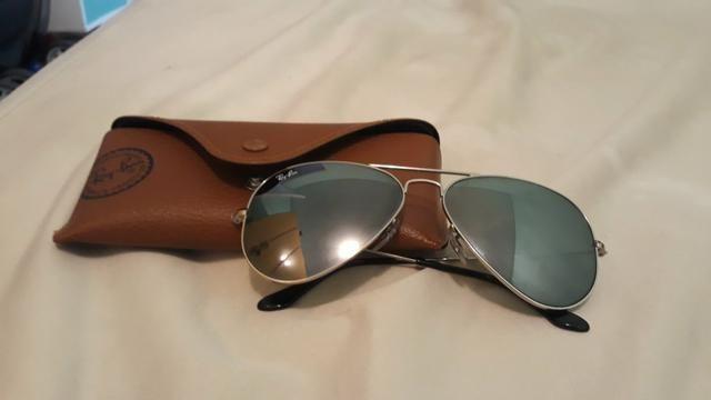 Óculos Ray-Ban aviator feminino original, com estojo. - Foto 6