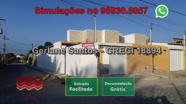 Casa de Esquina com Escritura Grátis, 02 Quartos, 02 Wc, Garagem e Quintal - Foto 2