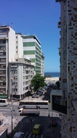 Férias/Descanso em Copacabana-Apto. p/Temporada,1quarto/sala c/vista lateral mar