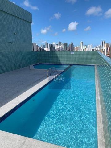 Apartamento com 1 dormitório para alugar, 31 m² por R$ 2.100,00/mês - Graças - Recife/PE - Foto 2