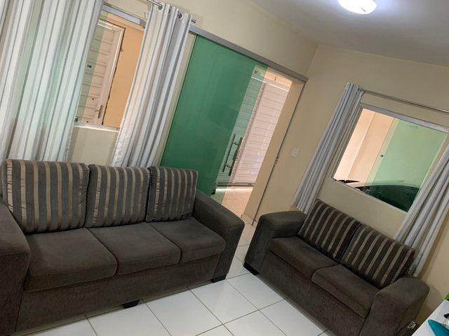 Conjunto de sofá de 2 e 3 lugares. Semi Novos R$ 700,00 - Foto 6