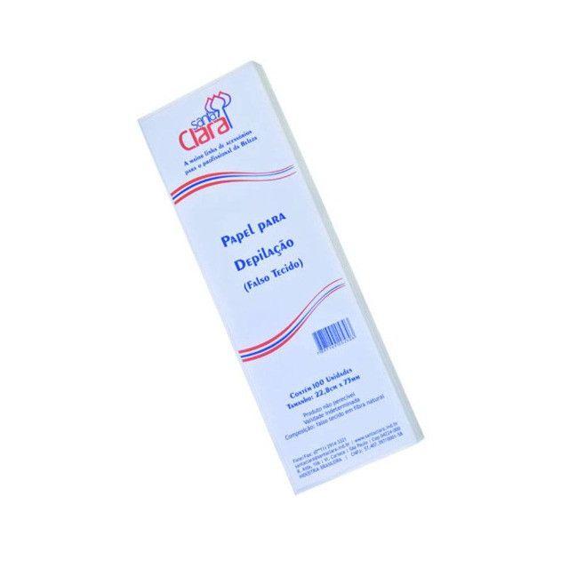 """2 pacotes de papel para depilação """"standard"""" (falso tecido) com 100 unidades cód. 797 - Foto 2"""