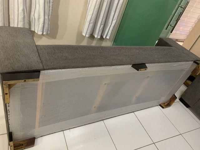 Conjunto de sofá de 2 e 3 lugares. Semi Novos R$ 700,00 - Foto 5
