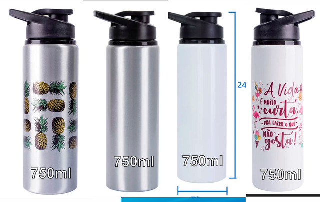 Squeeze Alumínio Personalizado 500ml = 29,00 - 600ml= 32,00 e 750ml =39,00 - Foto 6
