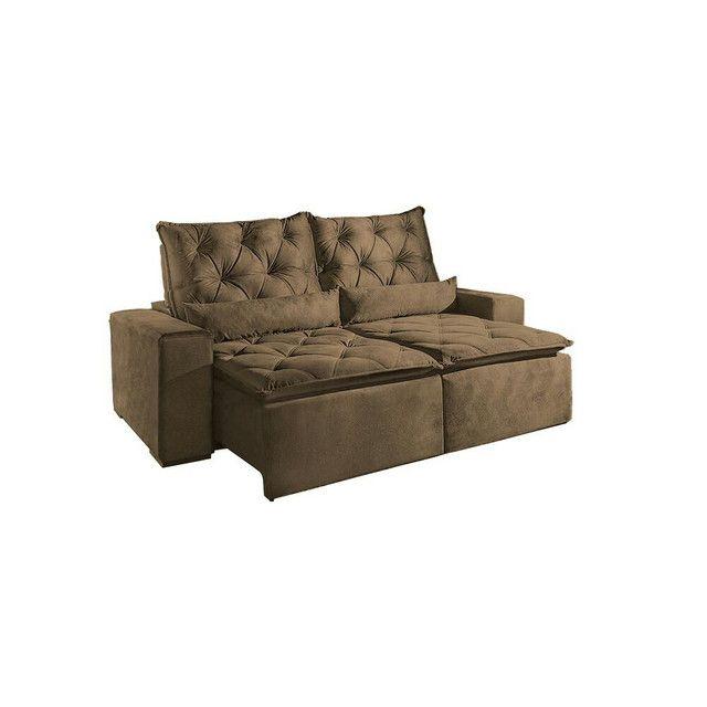 !!!Sofá retrátil e reclinável alto padrão Infiniti  - Foto 5