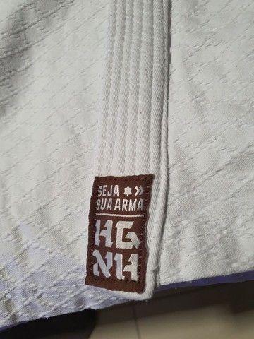 Kimono Judô/Jiujitsu HAGANAH A1 Branco - Foto 3