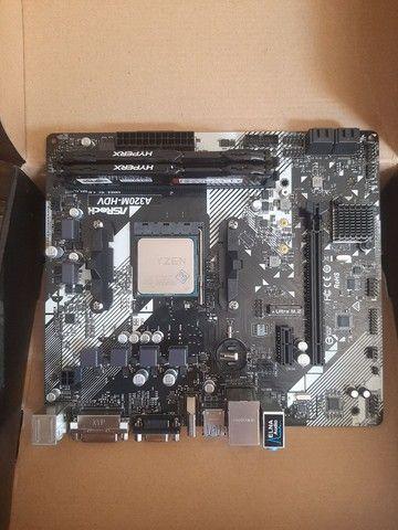 Kit Ryzem 1600X + 2 x 4gb de memória