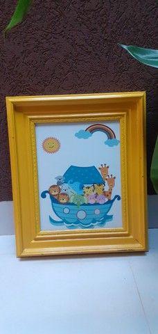 Quadro quarto de bebê Safari - Desapegos - Foto 5