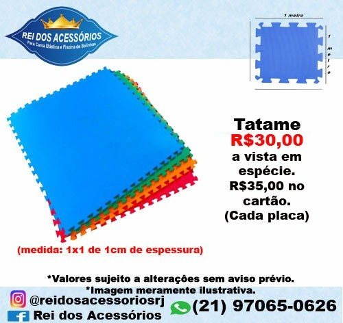 Tatame (medida: 1 m x 1m de 1cm de espessura)