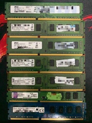 Memória RAM DDR3 1333MHz 4GB -  DDR3 1600MHz 4GB e 2GB - Consultar valores