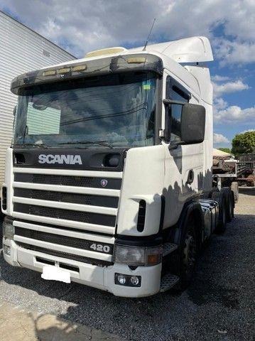 Scania 420 R124 2006 e Carreta Guerra 2001 - Foto 9