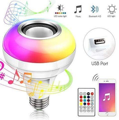 Lampada Bluetooth Led Caixa D Som Música